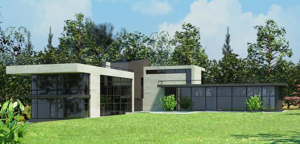 Проект дома в пос. Лупаново (Англиский)