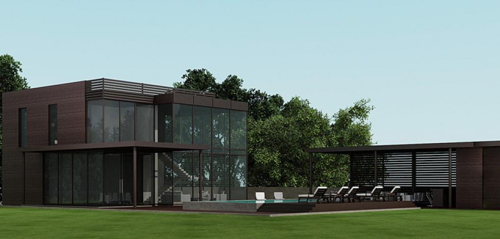 Проект дома в поселке на Новорижском шоссе (Англиский)