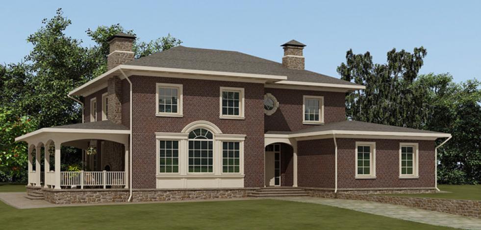 Проект классического дома в пос. Зеленый ветер (Англиский)