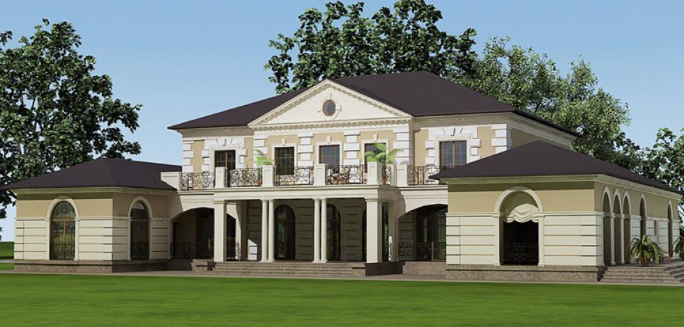 Проектирование классического дома в пос. Зеленый мыс (в вариантах) (Англиский)