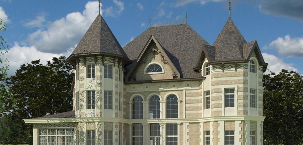 Проект классического дома на Николиной горе (Англиский)