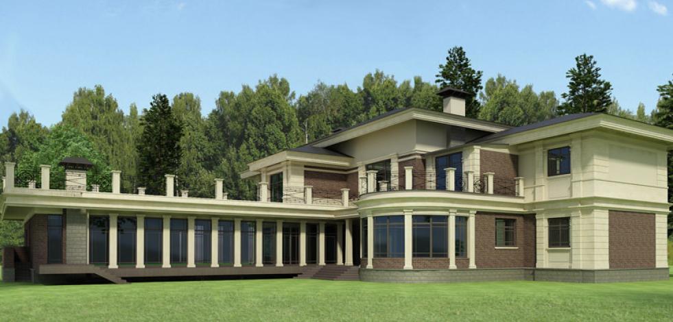 Проектирование классического дома в поселке Заречье (Англиский)