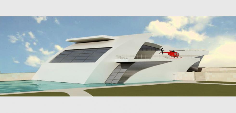 Проект частного спорткомплекса на берегу Истринского водохранилища (Англиский)