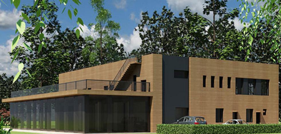 Реконструкция офисного здания в Сокольниках (бывшее здание кафе) (Англиский)