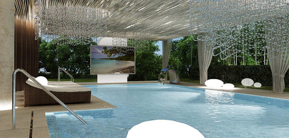 Дизайн проект бассейна дома в Серебряном бору (Англиский)